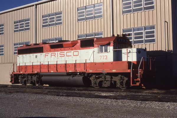 GP40-2 773 at Tulsa, Oklahoma on November 23, 1979