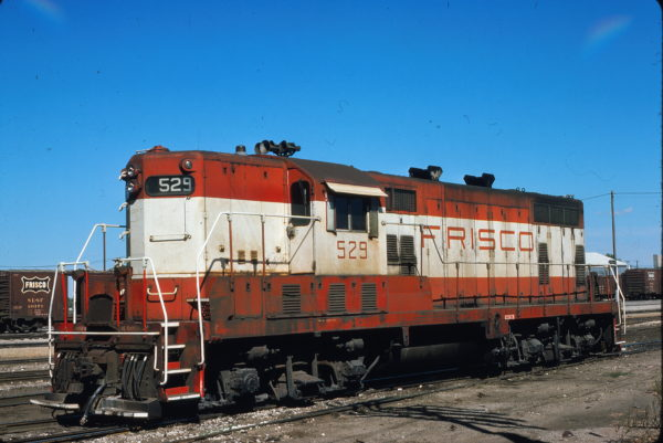 GP7 529 at Enid, Oklahoma in October 1978 (George LaPray)