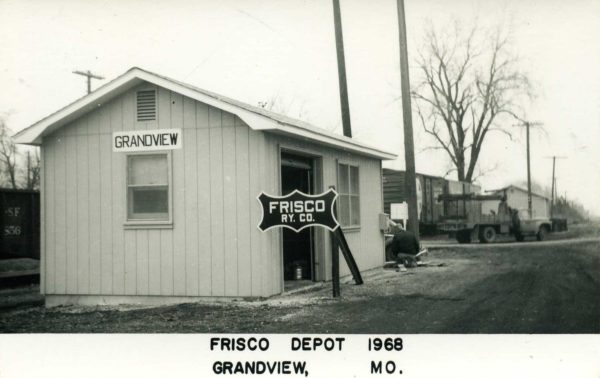 Grandview, Missouri Depot in 1968 (Postcard)