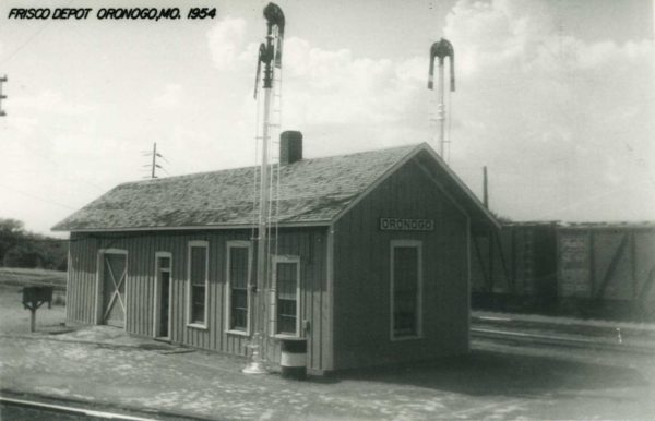 Oronogo, Missouri Depot in 1954 (Postcard)