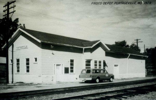 Portageville, Missouri Depot in 1979 (Postcard)