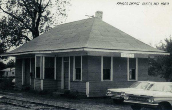 Risco, Missouri Depot in 1969 (Postcard)