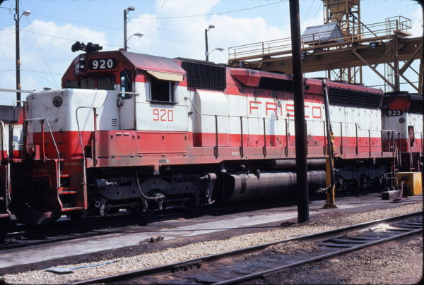 SD45 920 at Tulsa, Oklahoma on August 21, 1977