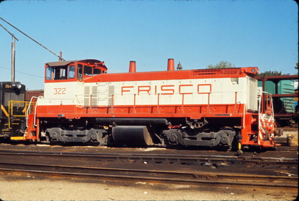 SW1500 322 at St. Louis, Missouri in August 1970 (Gerald Carson)