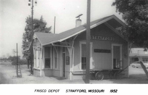 Strafford, Missouri Depot (Postcard)