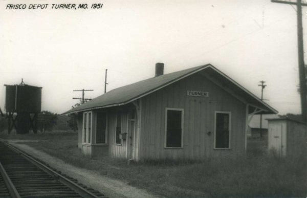 Turner, Missouri Depot in 1951 (Postcard)