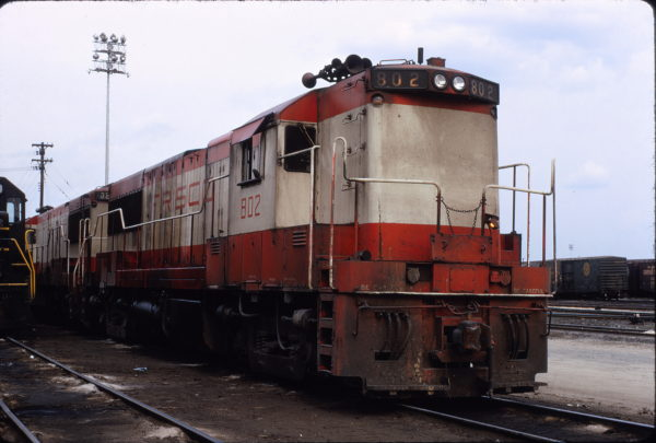 U25B 802 at Birmingham, Alabama in March 1971 (Warren Callaway)