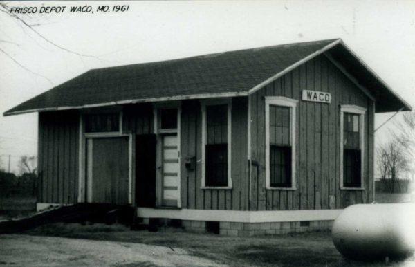 Waco, Missouri Depot in 1961 (Postcard)