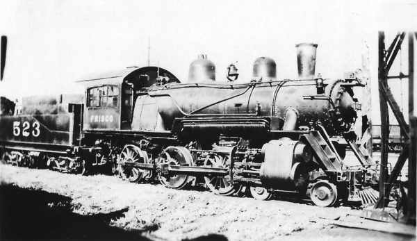 4-6-0 523 at Fort Smith, Arkansas on July 1, 1934