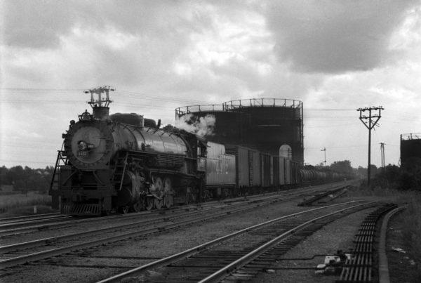 4-8-2 4402 Eastbound at Southeastern Junction, St. Louis, Missouri in 1941 (William K. Barham)