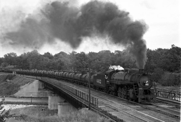 4-8-2 4412 with Train #37 at Southeastern Junction in September 1942 (William K. Barham)