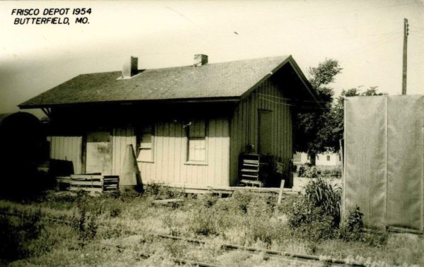 Butterfield, Missouri Depot in 1954 (Postcard)