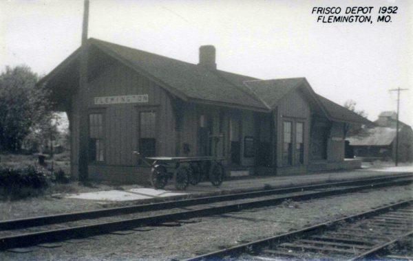 Flemington, Missouri Depot in 1952 (Postcard)