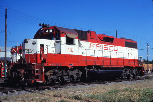GP38-2 410 at Fort Worth, Texas on June 6, 1980 (Bill Phillips)
