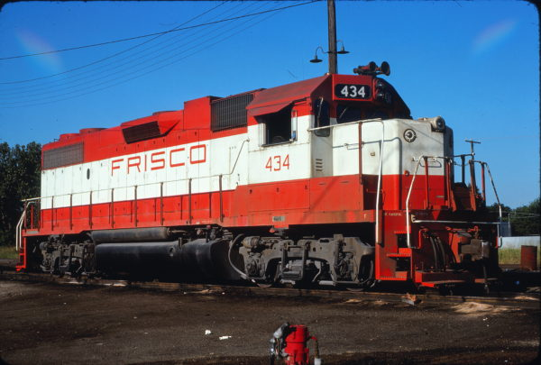 GP38-2 434 at Fort Worth, Texas on August 15, 1976