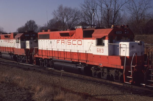 GP38-2 683 at Springfield, Missouri in February 1981 (Mike Abalos)