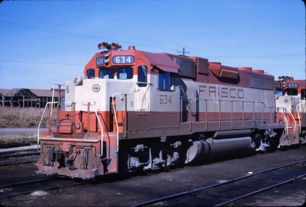 GP38AC 634 at Tulsa, Oklahoma (date unknown) (John Gwinn)