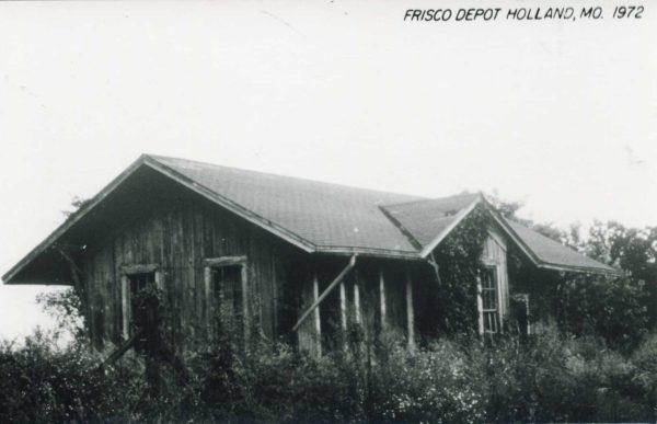 Holland, Missouri Depot in 1972 (Postcard)