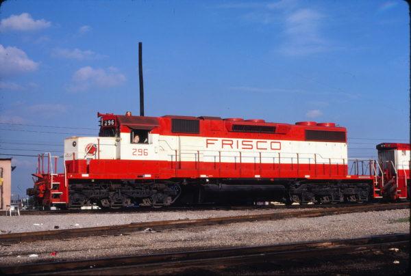 SD38-2 296 at Tulsa, Oklahoma on June 21, 1980 (J. Harlen Wilson)