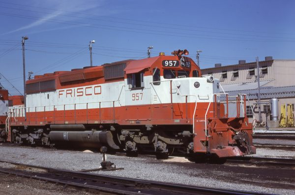 SD40-2 957 at Memphis, Tennessee on October 8, 1978 (D.M. Johnson)
