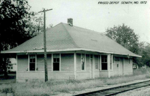 Senath, Missouri Depot in 1972 (Postcard)
