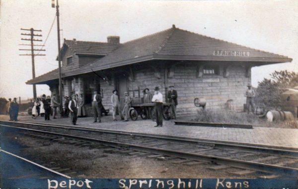Spring Hill, Kansas Depot (Postcard)