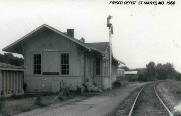 St. Marys, Missouri Depot in 1966 (Postcard)