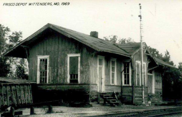 Wittenberg, Missouri Depot in 1969 (Postcard)