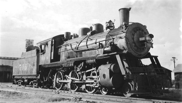 4-6-0 706 at Enid, Oklahoma on September 22, 1948