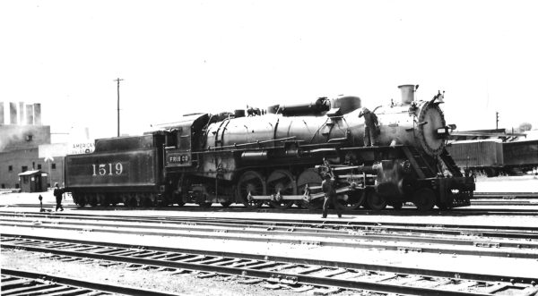 4-8-2 1519 at Tulsa, Oklahoma on August 2, 1946 (Arthur B. Johnson)