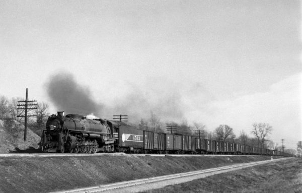 4-8-4 4503 Extra Westbound at Kirkwood, Missouri in 1942 (William K. Barham)