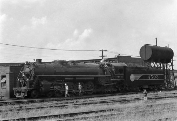 4-8-4 4503 at Lindenwood Yard, St. Louis, Missouri in June 1942 (William K. Barham)