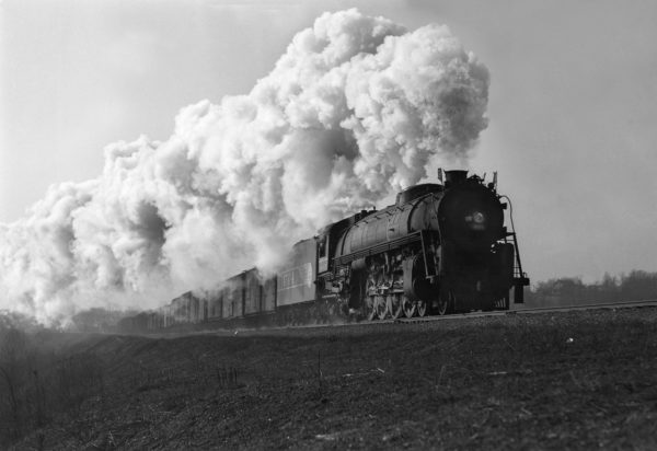 4-8-4 4504 Extra Eastbound at Valley Park, Missouri in November 1942
