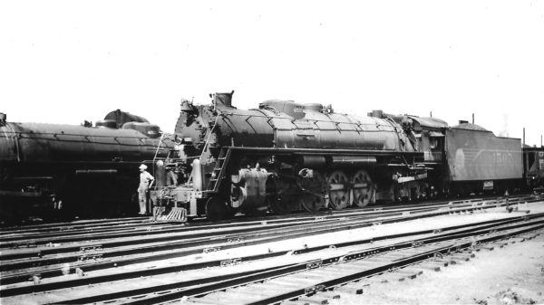 4-8-4 4507 arriving at Springfield, Missouri on July 2, 1947 (Arthur B. Johnson)