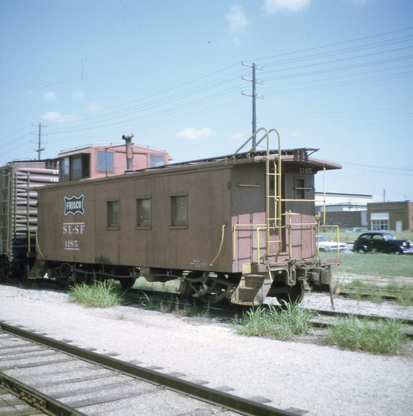Caboose 1185 at Muskogee, Oklahoma on August 6, 1968 (W. Zeitler)