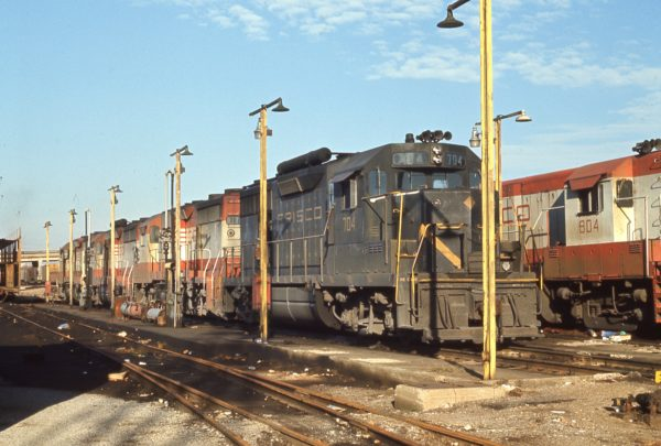 GP35 704 at St. Louis, Missouri in October 1970