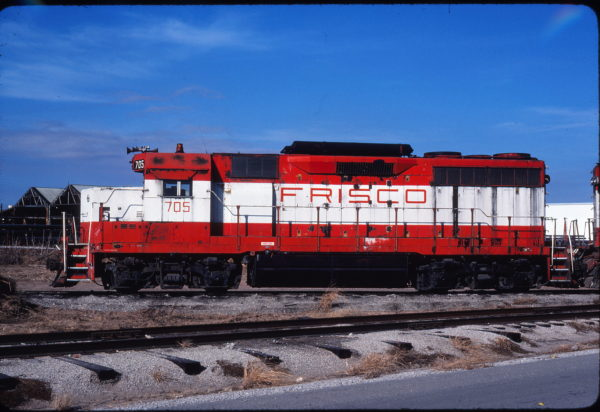 GP35 705 at Tulsa, Oklahoma on December 24, 1980 (Gene Gant)