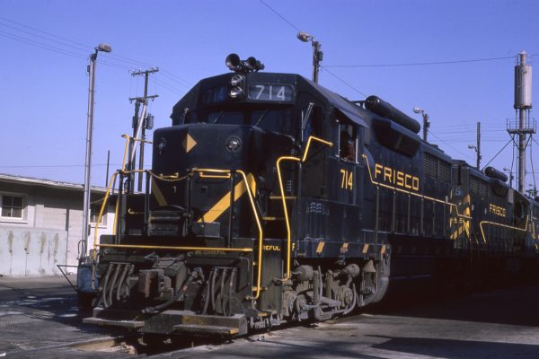 GP35 714 at Kansas City, Missouri on October 23, 1964