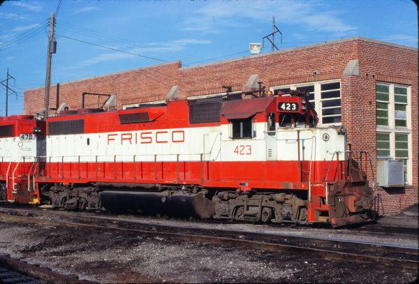 GP38-2 423 at Fort Smith, Arkansas on June 8, 1980 (Paul Strang)