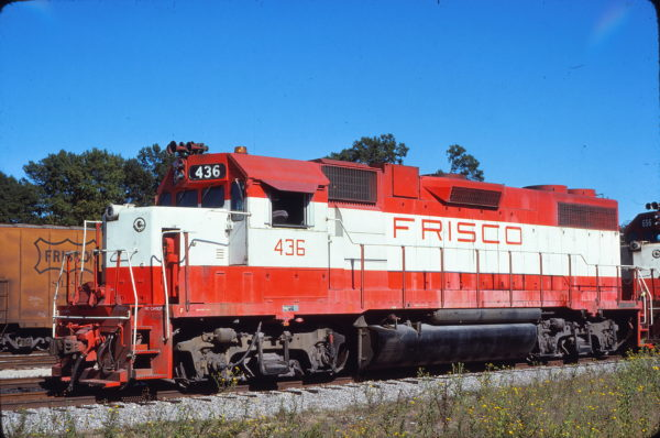 GP38-2 436 at Amory, Mississippi on September 11, 1976 (Bill Folsom)