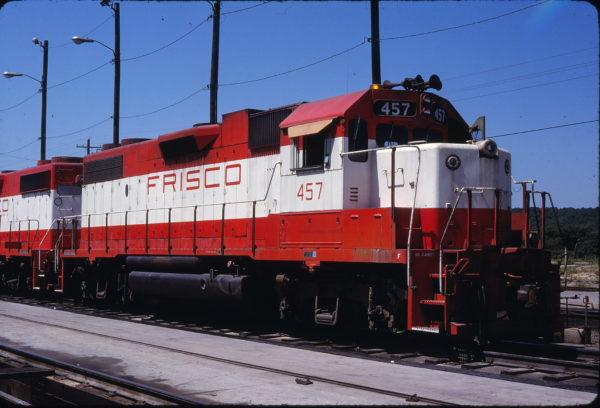 GP38-2 457 at Tulsa, Oklahoma on July 5, 1980 (Lloyd Neal)