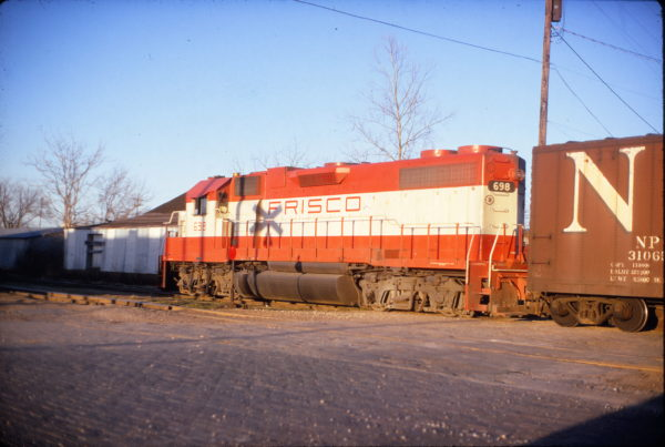 GP38-2 698 (location unknown) in April 1973