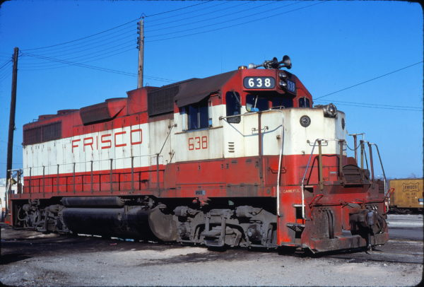 GP38AC 638 at Fort Worth, Texas on February 3, 1980 (Bill Phillips)