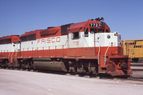 GP40-2 772 at Tulsa, Oklahoma on June 22, 1980