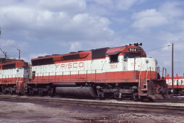 SD45 904 at Tulsa, Oklahoma on May 18, 1980 (J.C. Benson)