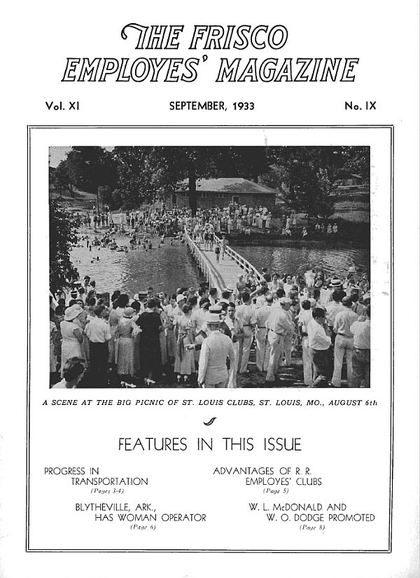 Frisco Employes' Magazine – September 1933