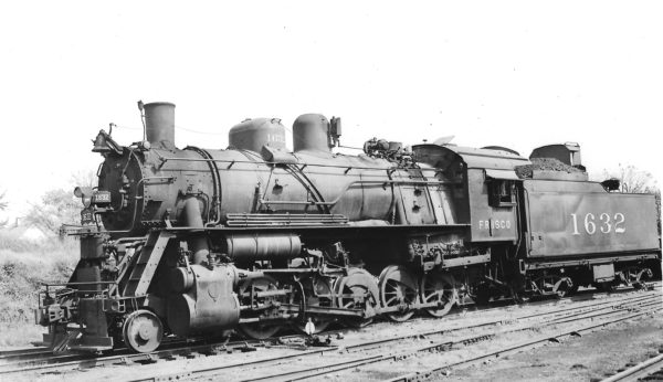 2-10-0 1632 at Springfield, Missouri on October 8, 1949 (Arthur B. Johnson)