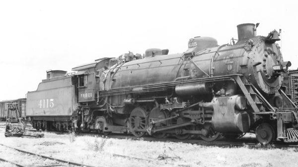 2-8-2 4115 at Springfield, Missouri on July 8, 1950 (Arthur B. Johnson)