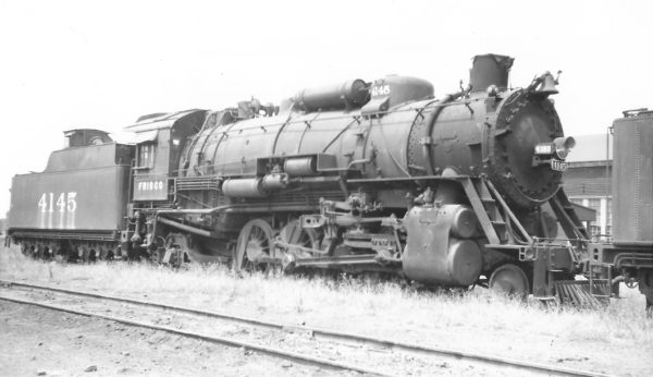 2-8-2 4145 at Birmingham, Alabama on August 30, 1951 (Arthur B. Johnson)