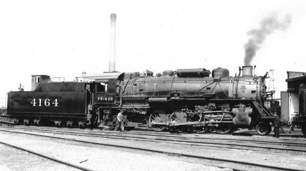 2-8-2 4164 at Oklahoma City, Oklahoma on June 3, 1940 (Arthur B. Johnson)